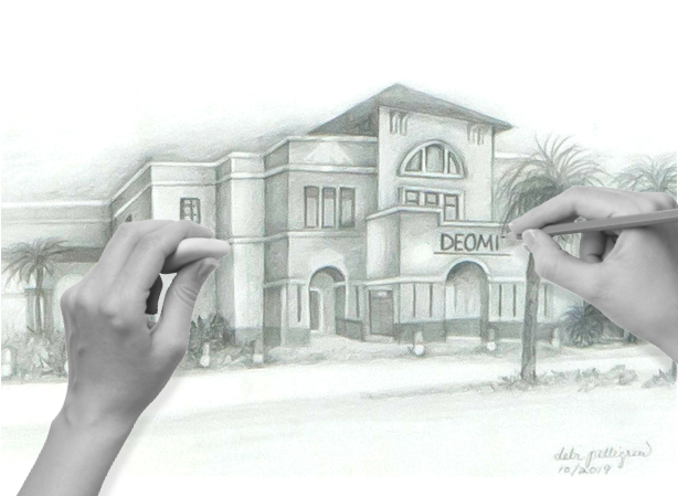 Drawing of DEOMI building