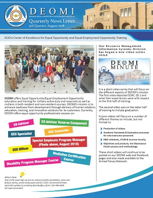Cover Image DEOMI August 2018 Newsletter