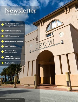 Cover Image DEOMI December 2019 Newsletter