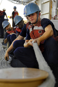 Image of Navy personnel on ship