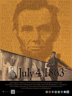 Poster July Series Lincoln Gettysburg Address