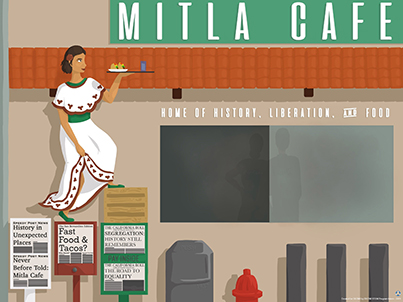 Image of 2019 Mitla Cafe Poster