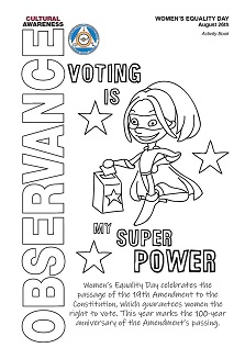 Image of 2019 Women's Equality Day Activity Book